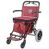DEE Chariot pour personnes âgées multifonctionnel chariot peut pousser pour s'asseoir Portable Quad vélo...