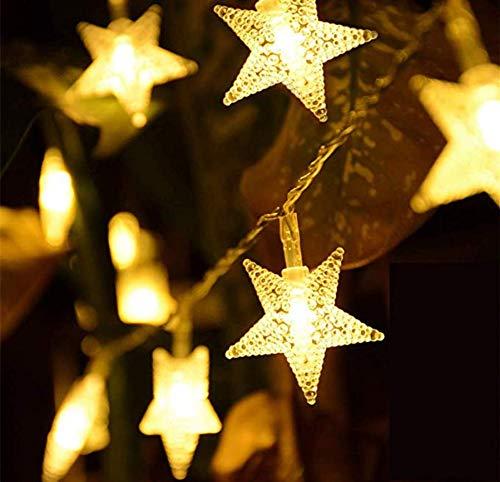 Luces de cadena solares, 12M 100 Led Solar Star Luces, Luces de hadas solares blancas cálidas, Doble modo al aire libre, Patio de jardín, Decoración de boda, Luces de Navidad