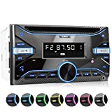 XOMAX XM-2CDB625 Autoradio mit Bluetooth-Freisprecheinrichtung I CD, USB für MP3 und WMA, AUX I 7 Beleuchtungsfarben I RDS I AM/FM I 2 DIN