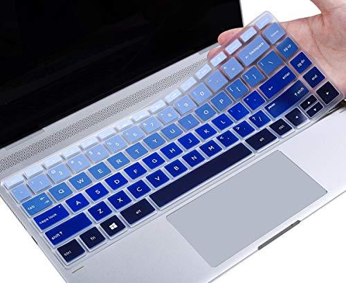 Keyboard Cover Skin for NEWEST 14' HP Pavilion x360 14M-BA Series 14M-BA011DX 14M-BA013DX 14M-BA114DX 14M-BA015DX, HP 14-BK061ST 14-BK091ST 14 Inch Laptop, Gradual Blue