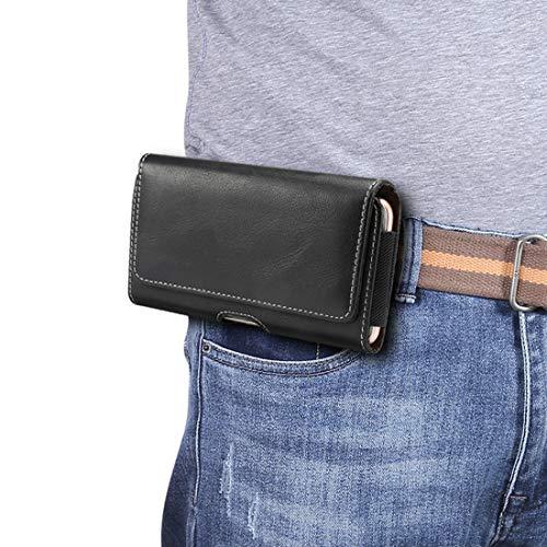 Funda de cuero horizontal premium para iPhone 12 Pro Max, funda para cinturón para hombre Samsung Galaxy S20 FE Note20, Note20 Ultra, s20+ 5G, s20+, s20 Ultra 5G