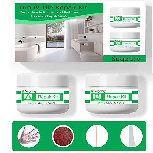 Tub Tile Porcelain And Shower Fiberglass Repair Kit For White Tubs Ceramic Toilet Fiberglass Stone Chips Scraps Drill Buy Online In China At Desertcart