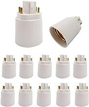 E-Simpo 4Pin Light Socket Adapter, Gx24q to E26/E27 Lamp Base Converter. Need Rewire to Bypass Ballast. (12-Pack)