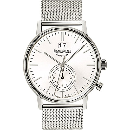 Bruno Söhnle Herren Analog Quarz Uhr mit Edelstahl Armband 17-13180-240
