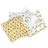 Navaris 4x Toalla para bebé de muselina - Toallitas ecológicas para cuidado...