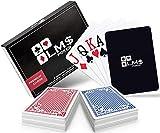 Pokerkarten Plastik mit Cut Card - [2 x] hochwertige Pokerkarten 54 Blatt - wasserfeste und stabile Profi Spielkarten im Doppelpack – Plastikkarten mit Jumbo Index