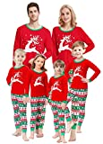 Matching Family Christmas Pajamas Boys Girls Elk Jammies Children Gift Set Size 3