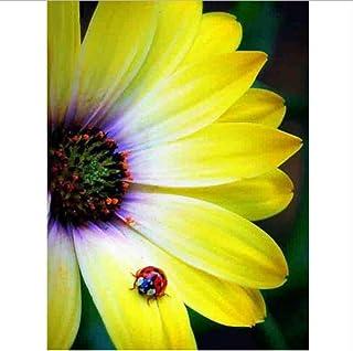 DIY Acrylmalerei Gelbe Gelbe Gelbe Blütenblätter, Blaumen, Marienkäfer Wohnkultur Mit Pinsel Malen Nach Zahlen Für Erwachsene-Rahmen 40X50Cm B07PDYDG5J  Kostengünstig 9bcc9a