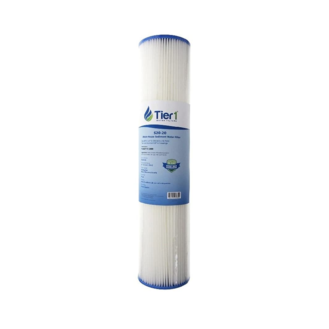 Tier1 Replacement for Pentek S1-20BB 20 Micron 20 x 4.5 Pleated Cellulose Sediment Water Filter - Not for Well Water