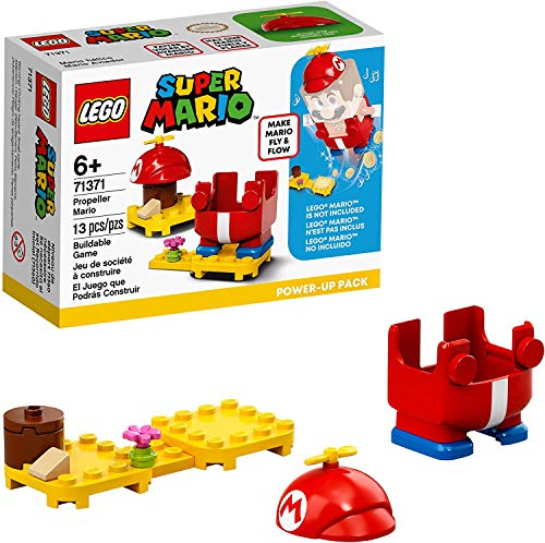LEGO Super Mario Propeller Mario Power-Up Pack 71371; Awesome Toy for Kids to Power Up The Mario Figure in The Adventures with Mario Starter Course (71360) Playset, New 2020 (13 Pieces)