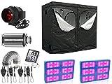 Nito GmbH Growbox - Set completo de cajas de cultivo (120 x 120 cm, con LED de 3000 W y filtro de carbón activo)
