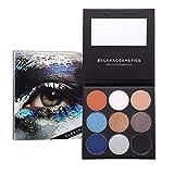 Klara Cosmetics Burning Man Limited Edition Bold Burnt Orange Metallic Silver Bright Blue Blendable Eyeshadow Palette