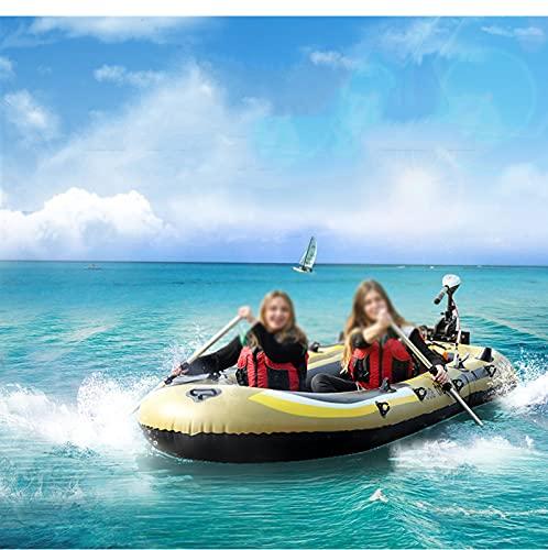 PZJ-Bote de Aire Inflable para Remo Barco Marino Inflable, Barco Inflable de Aire para un Solo Hombre para una Persona, Material de PVC Duradero Barco de Aire para Pesca a la Deriva Engrosado