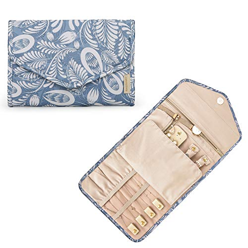 bagsmart Schmuck Organizer Tasche für Reise Schmuckaufbewahrung Reisezubehör für Ringe, Ohrringe, Halsketten, Uhren