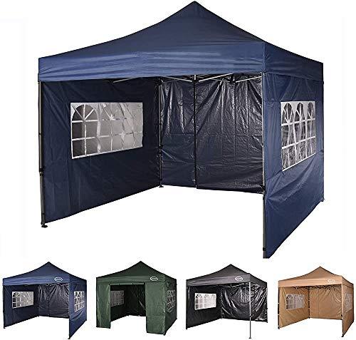 JKABCD Heavy gazebo 3m x 3m gazebo market stall pop-up tent with 4 sides (blue),Blue
