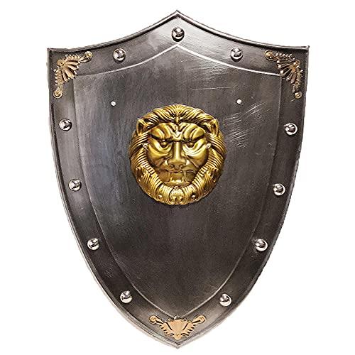 Medieval Retro Industrial Ornamento de Viento Creativo león Escudo Colgando casa Pared Mural Bar Restaurante-AAA