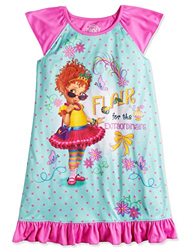 Disney Fancy Nancy Girl's Dorm Nightgown Pajamas (8, Blue/Pink)