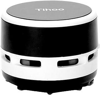 Bestgift - Mini aspiradora de alta potencia de succi?n funciona con pilas (2 x AA) aspiradora de coche para escritorio, hogar, oficina y coche, color Negro