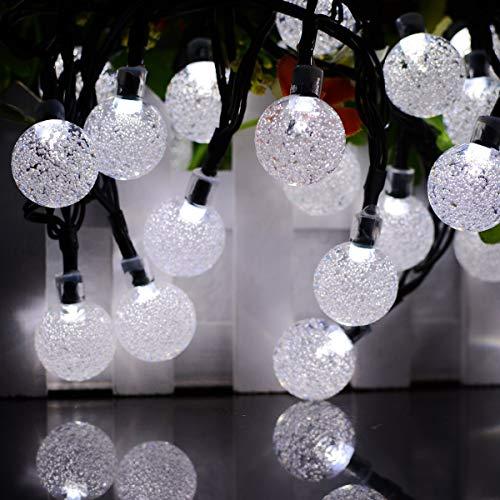 Al aire libre a prueba de agua 30 luz bola de burbujas decoración del día de Navidad luces LED cadena cadena de luz solar rojo 0.2