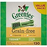 GREENIES Grain Free TEENIE Natural Dog Dental Care Chews Oral Health Dog Treats, 36 oz. Pack (130 Treats)