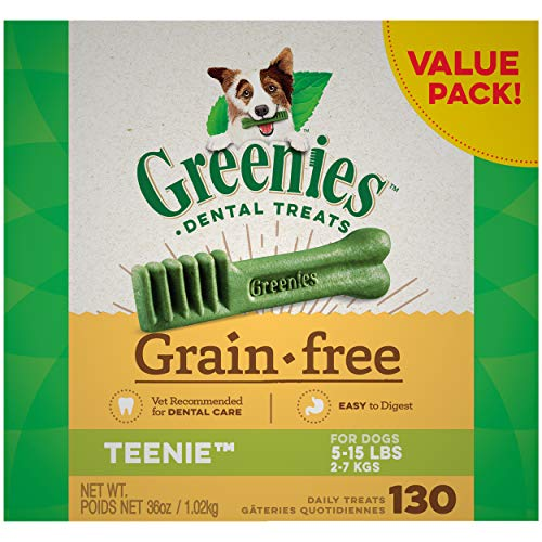 Greenies Grain-Free Natural Dental Dog Treats - Teenie