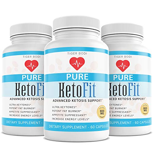 (3 Pack) Pure Keto Fit Pro Pills, Premium Keto Diet Pills Supplement for Energy, Focus - Exogenous Ketones for Rapid Ketosis - Ketogenic BHB for Men Women 1
