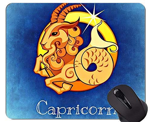 Mausunterlage Personifiziert, Steinbock-Tierkreis-Konstellations-Astrologie-Symbol-Themen der Gummimausunterlage