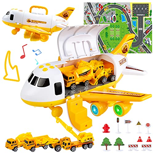 UNIH Toddler Airplane Toys for 2 3 4 5 Year Old Boys & Girls, Kids...