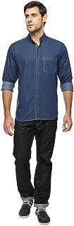 FX Jeans Co Men's Solid Casual Denim Shirt