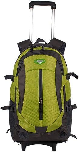 QARYYQ Reiserucksack Oxford Tuch Größe Kapazit Gep wagen Outdoor-Freizeit-Multifunktions-Rucksack Trolley Rucksack (Farbe   Grün, Größe   44x20x32cm)