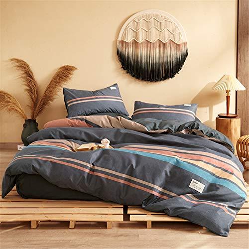 Juego De Ropa De Cama De 4 Piezas Textiles para El Hogarfunda Nórdica Sábana Funda De Almohada Simple Atmosférico Y Fácil De Limpiar 220x240cm