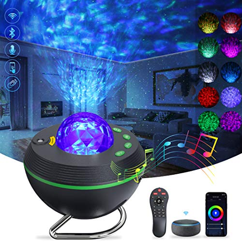 KGC Star Projector Galaxy Projector Starry Night Light Projector with Bluetooth Speaker & Remote Control, Smart Voice Control Compatible with Alexa & Google Home, Perfect for Bedroom