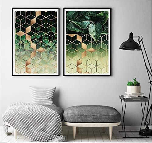 YuanMinglu Modernen Stil frische Pflanze dekorative malerei modulare Druck Bild leinwand malerei Wohnzimmer wandbild rahmenlose 30x40 cm