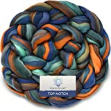 TOP NOTCH SUPERFINE MERINO Fiber for Spinning & Felting. Super Soft Combed Top Color Blend. Globetrotter