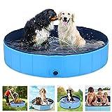 ペットバスプール Onlygreen 犬 プール ペットシャワー用プール 子供用プール 犬、猫用 子どもの水遊びプール 折り畳み 持ち運び便利 PVC複合素材 耐磨 防水 夏 猫 小型犬 中型犬 お風呂ために (120*30, ブルー)