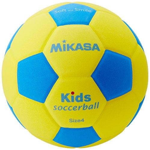 Mikasa Kinder SF4-YBL Kids und Bambini Fußball, Gelb/Blau, 4