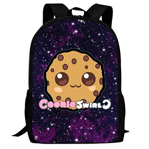 KKbagsor School Backpack Coo_kie_swirl_c Simple Student Book Bags Unisex Laptop Backpack for Men Women