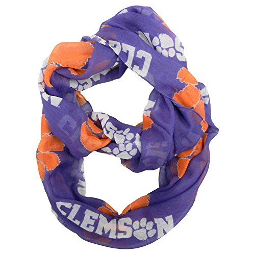 NCAA Clemson Tigers Scarf, Infinity Style, Team Colors
