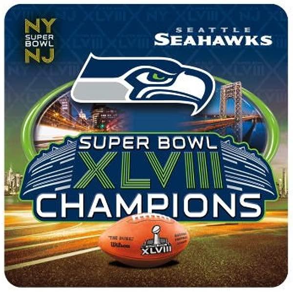 Seattle Seahawks Super Bowl XLVIII Coaster Set