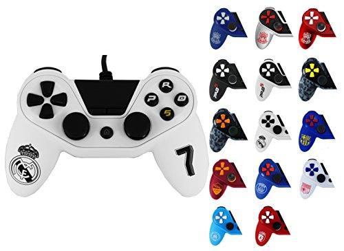 Mando Pro5 Controller compatible PS4 con licencia oficial Real Madrid