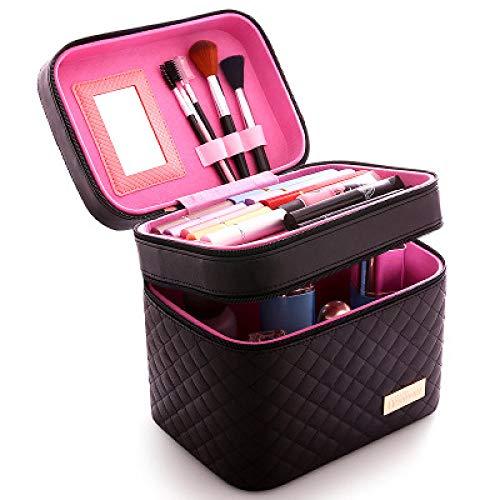 CHENHUI Trousse de Toilette Femmes Grande Capacit/é Professionnel Maquillage Organisateur De Mode Toilette Sac /À Cosm/étiques Multicouche Bo/îte De Stockage Portable Jolie Valise