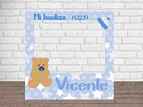 Photocall para Mi Bautizo 100 x100 cm | Detalles Bautizos | Photocall Económico y Original | Disfruta de Unas Divertidas Fotos con Nuestro photocall de bautizos