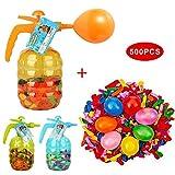 Bomba de globos de agua con 500 globos incluidos - Llenadora de globos de aire y agua 3 en 1 Estación de bombeo de globos de agua Súper fácil de usar para los días de verano Inflador de globos de agua