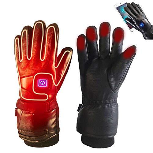 Langyinh Verwarmde handschoenen voor mannen en vrouwen, USB-elektrisch oplaadbare batterijverwarming, wanten met touchscreen en waterdicht, handwarmer voor wintersport
