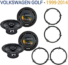 Compatible with Volkswagen Golf 1999-2014 Factory Speaker Upgrade Harmony (2) R65 Package New
