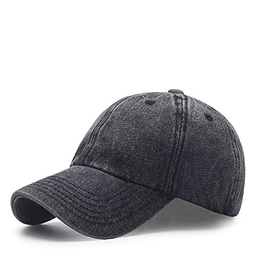 Sombrero De Béisbol De Vaquero Casual Moda Gorra De Visera Sombrero De Sol Al Aire Libre 56-59cm Negro