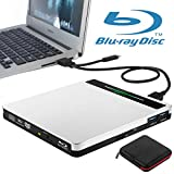 External Blu-Ray DVD Drive NOLYTH 5-in-1 USB-C 3.0 Blue-Ray 3D Writer Player Burner Recorder for Laptop Mac MacBook Pro Air Desktop Windows PC with SD&TF Card Reader and Hub