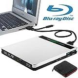 External Blu Ray Drive NOLYTH 5 in 1 USB 3.0/Type-C Blue Ray Burner CD/DVD/BD Player Writer Recorder for Laptop Mac MacBook Pro Air Desktop Windows PC