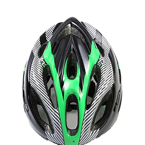 Yosemite Casco unisex para monopatín, casco de bicicleta para adultos con rayas de protección de seguridad ligera para deportes al aire libre, herramienta de ciclismo, accesorio - verde negro