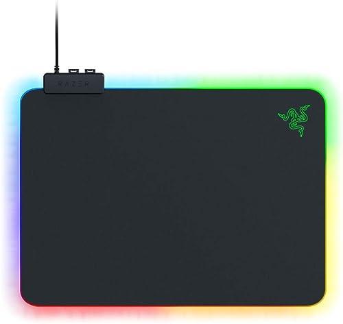 Razer RZ02-03020100-R3M1 Razer RZ02-03020100-R3M1 Firefly Hard V2 RGB Gaming Mouse Pad: Customizable Chroma Lighting ...
